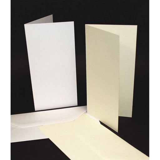 DL Cards and Envelopes 50 Pack White
