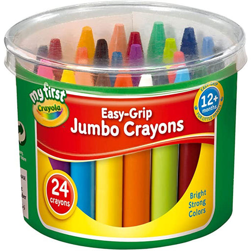 Crayola My First Easy Grip Jumbo Crayons , Pack of 24