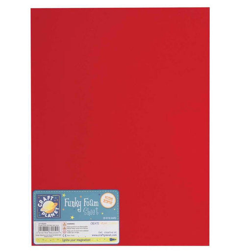 9 x 12 Funky Foam Sheet (2mm Thick) - Red