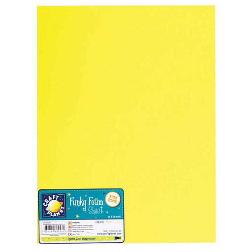 9 x 12 Funky Foam Sheet (2mm Thick) - Yellow