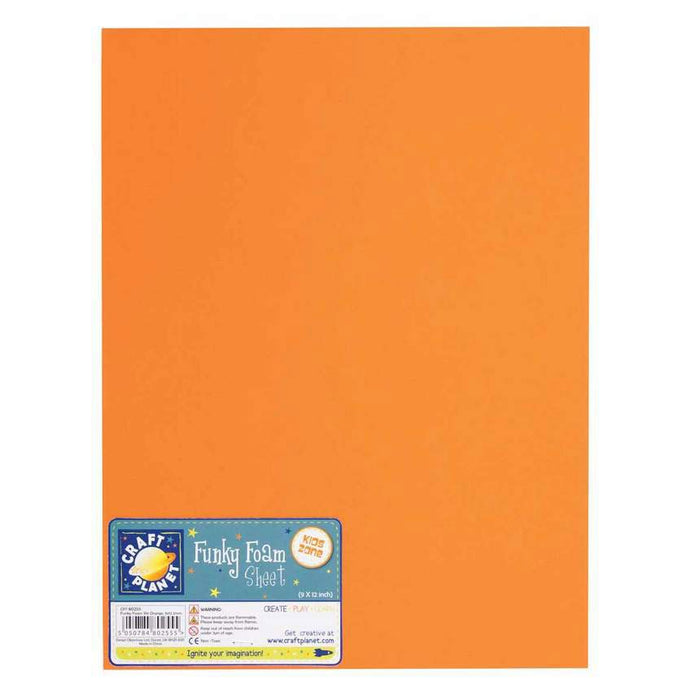 9 x 12 Funky Foam Sheet (2mm Thick) - Orange