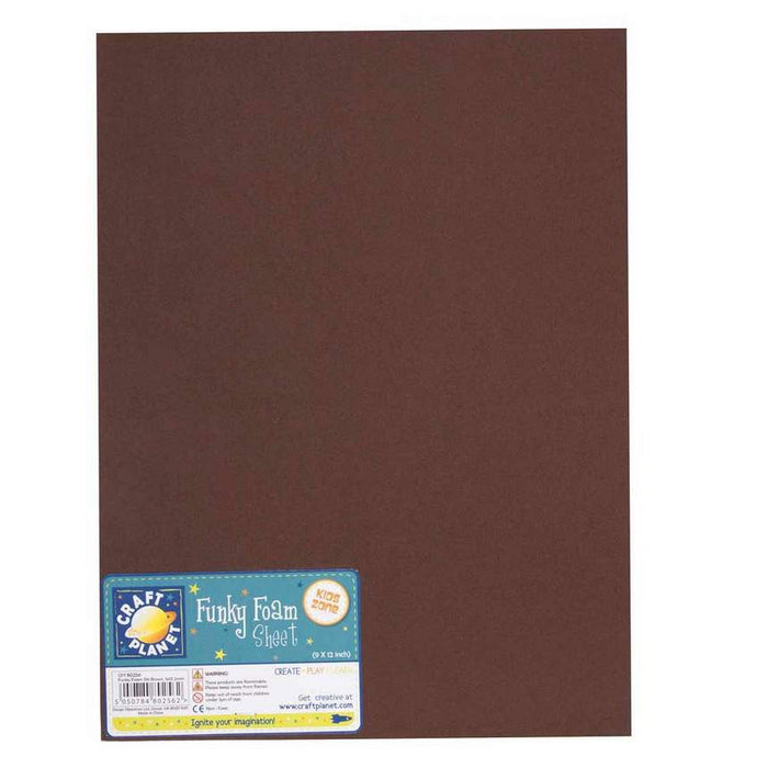 9 x 12 Funky Foam Sheet (2mm Thick) - Brown