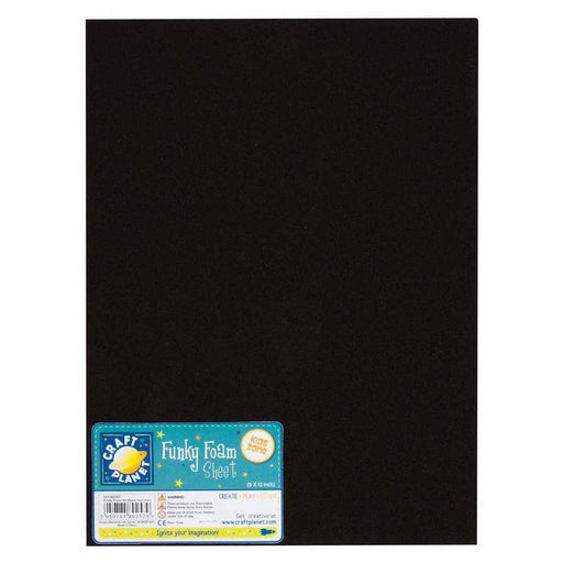 9 x 12 Funky Foam Sheet (2mm Thick) - Black