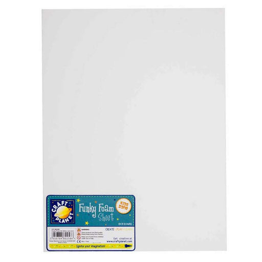 9 x 12 Funky Foam Sheet (2mm Thick) - White