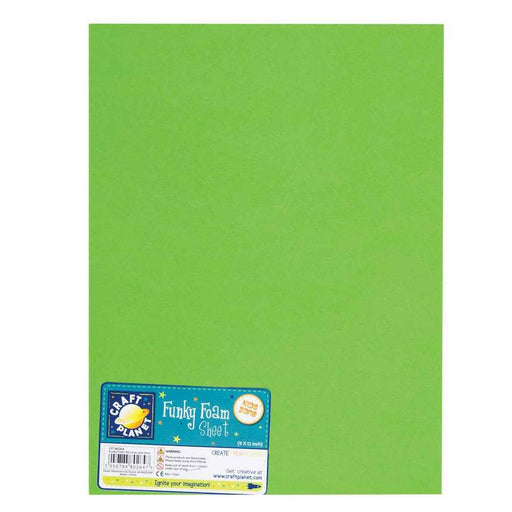 9 x 12 Funky Foam Sheet (2mm Thick) - Lime
