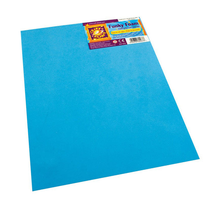 9 x 12 Funky Foam Sheet (2mm Thick) - Light Blue