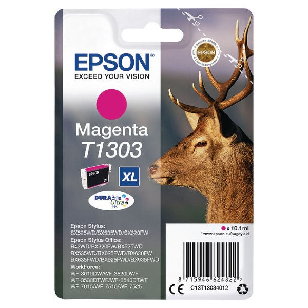 Epson T1303 XHY Magenta Ink Cartridge C13T13034012