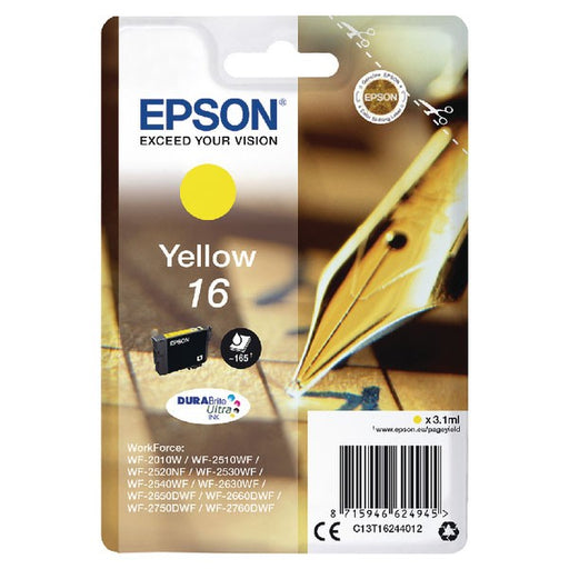 Epson 16 Yellow Inkjet Cartridge C13T16244012
