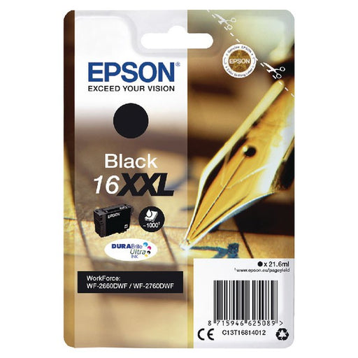 Epson 16XXL Black Inkjet Cartridge C13T16814012