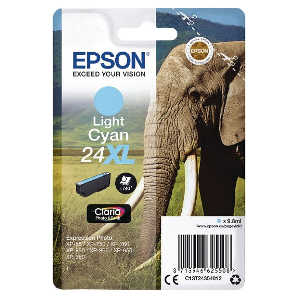 Epson 24XL Light Cyan Inkjet Cartridge C13T24354012