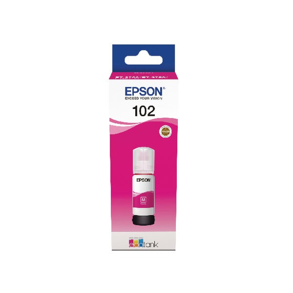 Epson 102 EcoTank Magenta Ink Bottle C13T03R340