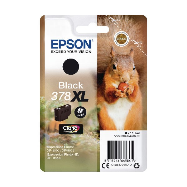 Epson 378XL Black Photo HD Inkjet Cartridge C13T37914010