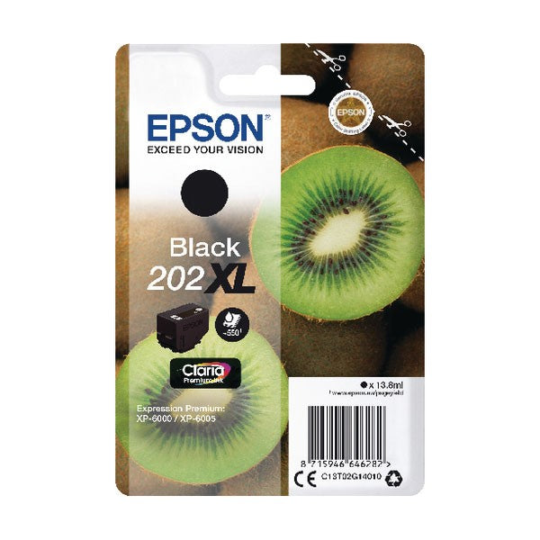 Epson 202XL Black Inkjet Cartridge C13T02G14010