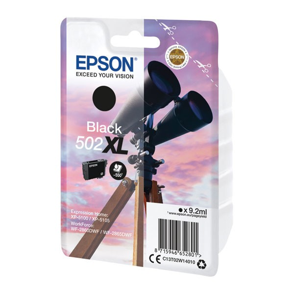 Epson Singlepack 502XL Ink Black C13T02W14010
