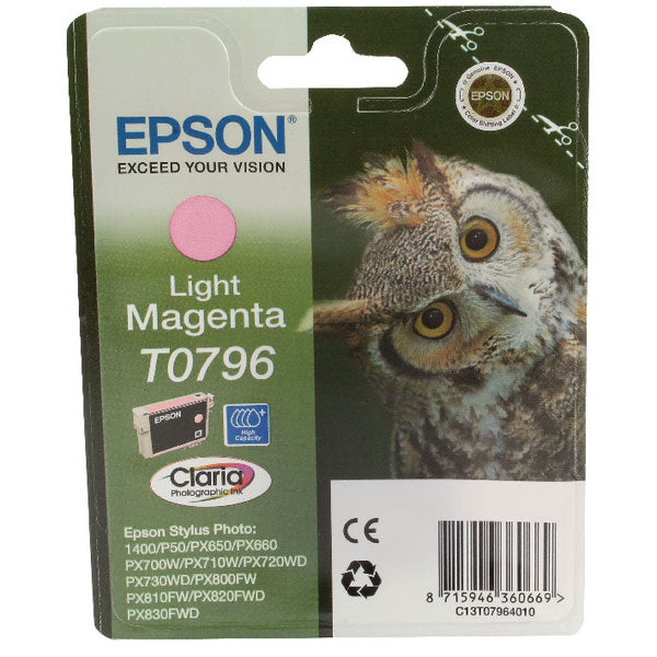 Epson T0796 Light Magenta Inkjet Cartridge C13T07964010 / T0796