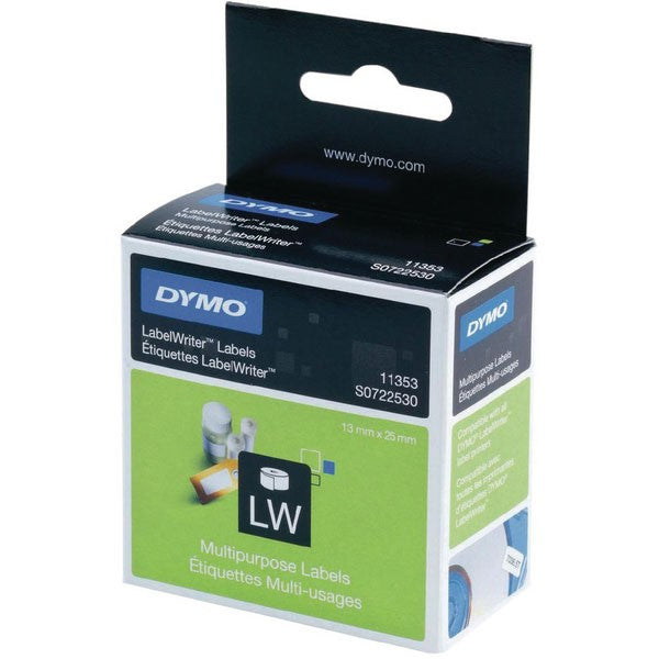 Dymo 11353 LabelWriter White 12 x 24mm Labels S0722530