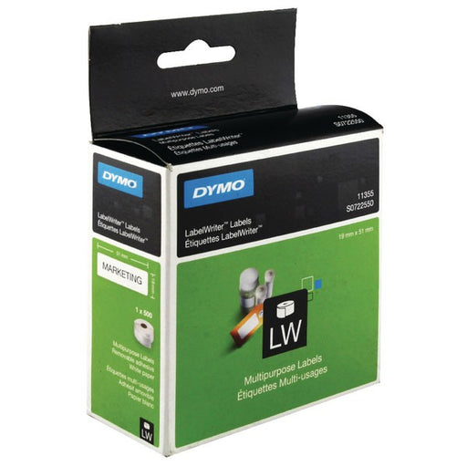 Dymo 11355 Multi-Purpose Labels 19 x 51mm White S0722550