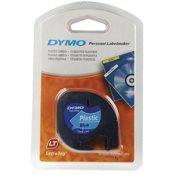 Dymo LetraTag Plastic Tape 12mm x 4m Ultra Blue S0721650