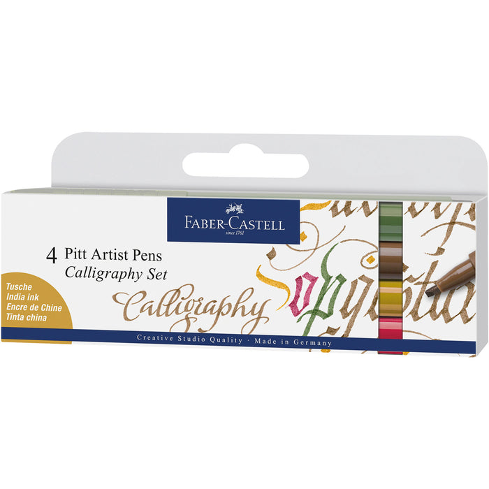 Pitt Artist Pen Calligraphy Wallet of 4 - Colours