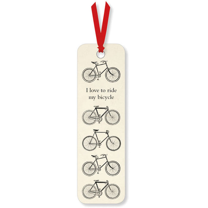 I Love To Ride My Bicycle Bookmark