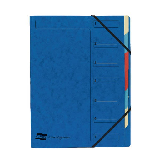 Exacompta Europa 7-Part Organiser A4 Blue 5219Z