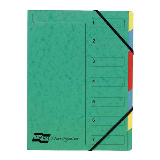 Exacompta Europa 7-Part Organiser A4 Green 5220Z