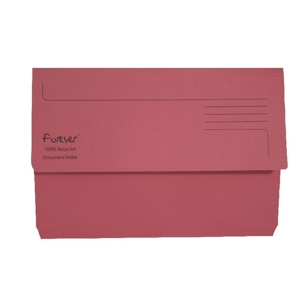 Exacompta Forever Document Wallet Manilla Foolscap Bright Pink 211/5002