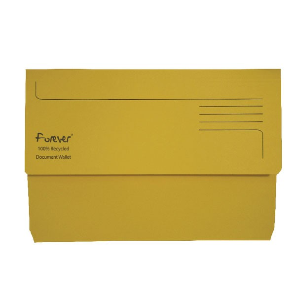 Exacompta Forever Document Wallet Manilla Foolscap Bright Yellow 211/5003