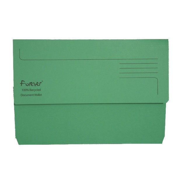 Exacompta Forever Document Wallet Manilla Foolscap Bright Green 211/5004