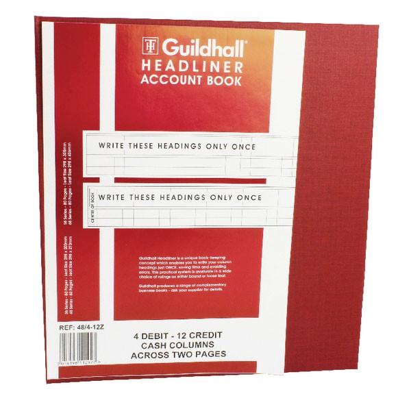 Exacompta Guildhall Headliner Book 80 Pages 298x273mm 48/4-12 1292