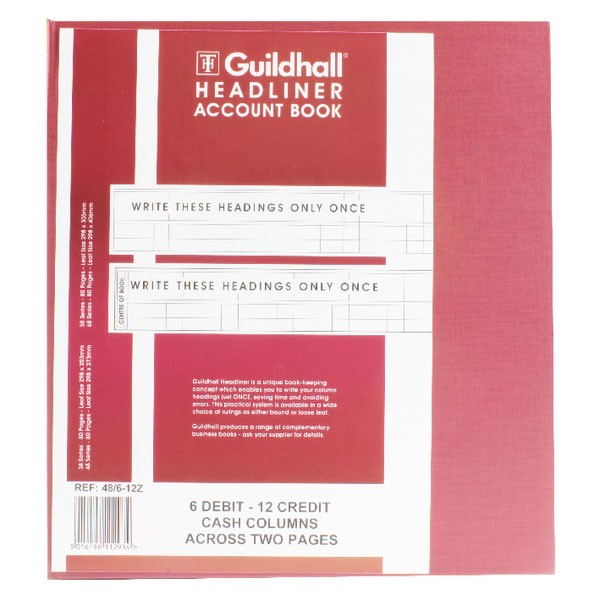 Exacompta Guildhall Headliner Book 80 Pages 298x273mm 48/6-12 1293