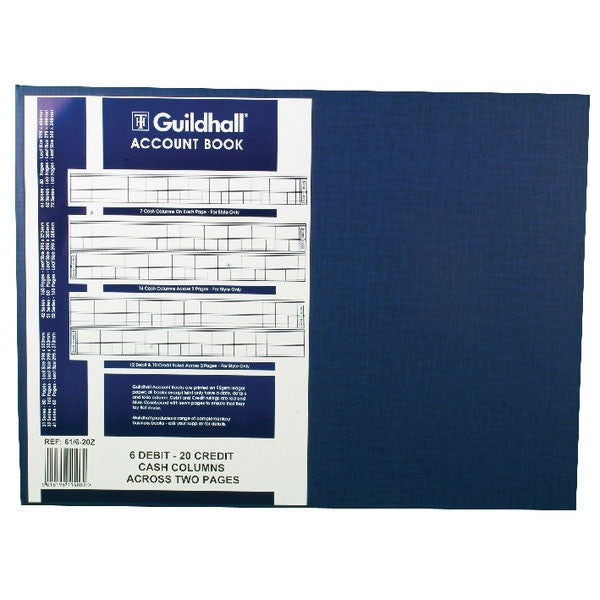 Exacompta Guildhall Account Book 80 Pages 61/6-20 1408