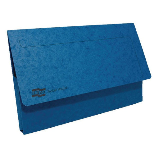 Exacompta Europa Pocket Wallet Foolscap Blue 5255Z