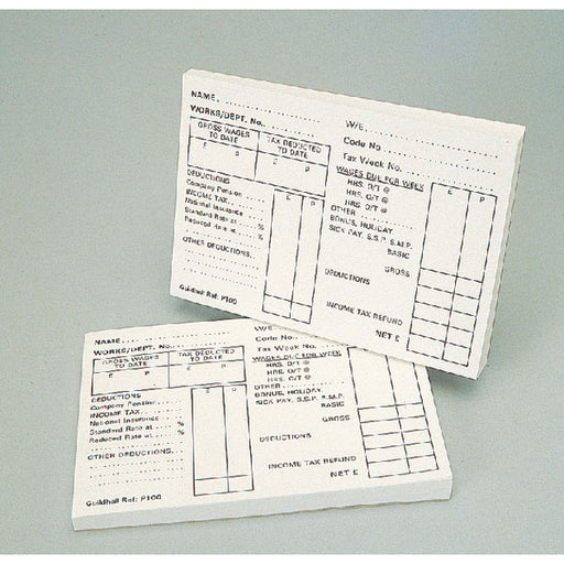 Exacompta Guildhall Pay Slip Pad 100 Leaves 1609