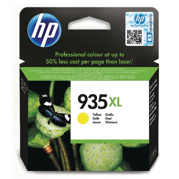HP 935XL Yellow High Yield Ink Cartridge (Capacity: 825 pages) C2P26AE