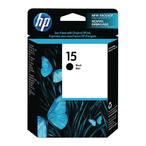 HP 15 Black Inkjet Cartridge DeskJet C6615D