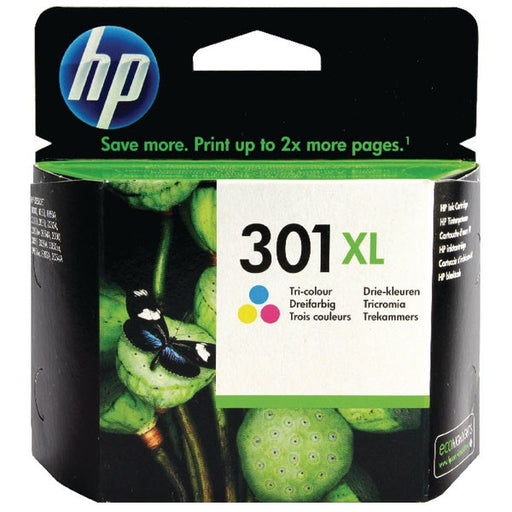 HP 301XL Cyan/Magenta/Yellow Ink Cartridge CH564EE