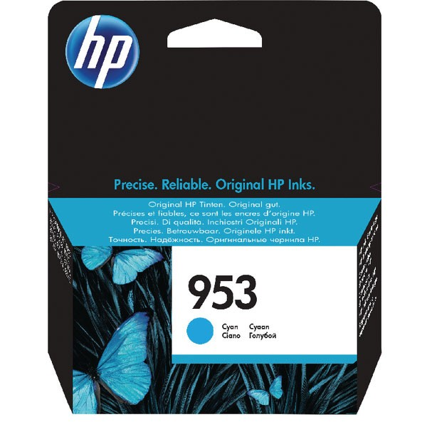 HP 953 Ink Cyan Cartridge (Standard Yield, 10ml, 700 Page Capacity) F6U12AE