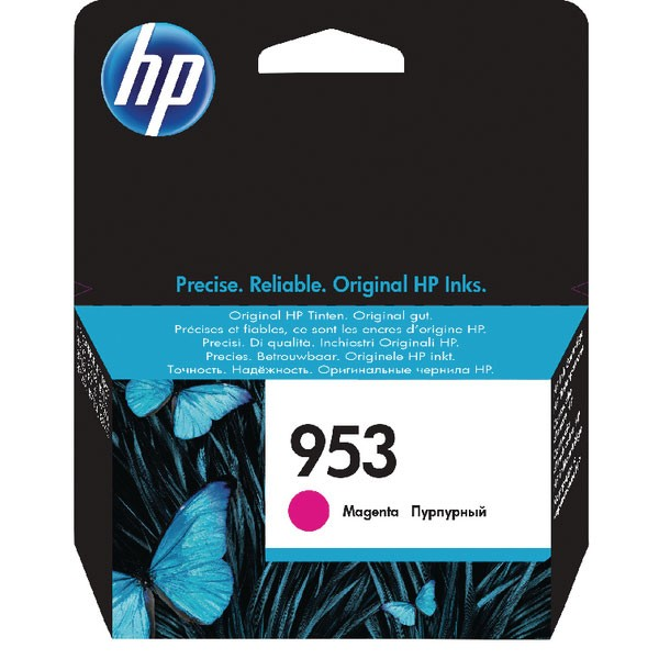 HP 953 Ink Magenta Cartridge (Standard Yield, 700 Page Capacity) F6U13AE