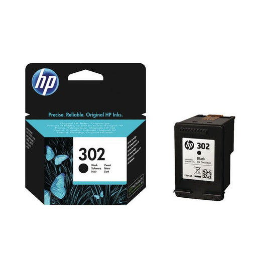 HP 302 Black Ink Cartridge (Standard Yield, 190 Page Capacity) F6U66AE