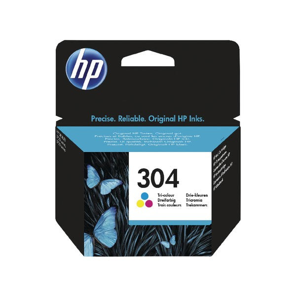 HP 304 Ink Cartridge Tricolour N9K05AE