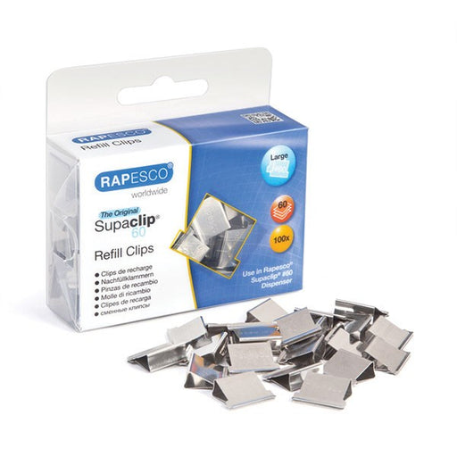Rapesco Supaclip 60 Refill Stainless Steel CP10060S