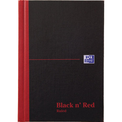 Black n' Red Casebound Hardback Notebook 192 Pages A6 100080429
