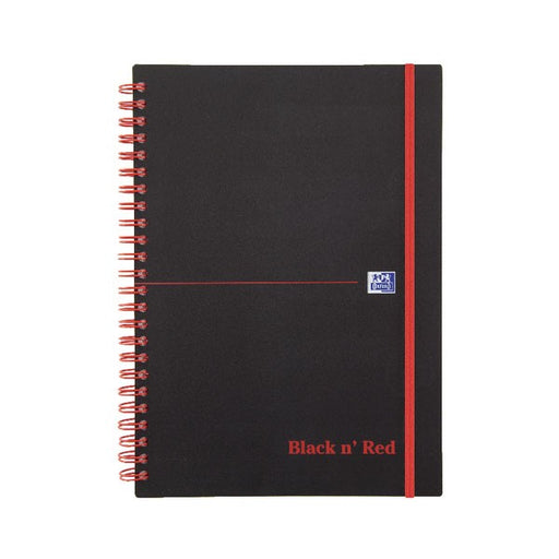 Black n' Red Ruled Polypropylene Wirebound Notebook 140 Pages A5 846350109