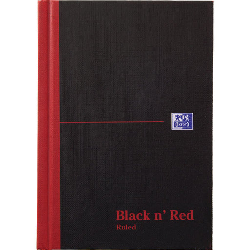 Black n' Red Casebound Hardback Notebook 192 Pages A5 100080459