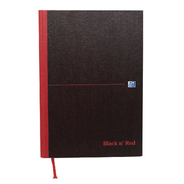 Black n' Red Narrow Ruled Casebound Hardback Notebook A4 100080474