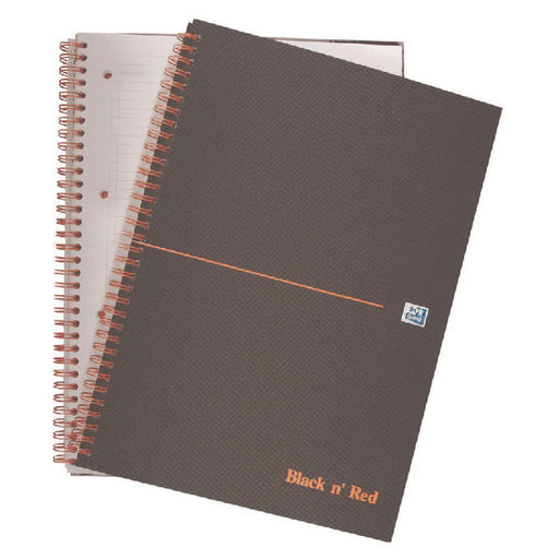 Black n' Red Smart Ruled Wirebound Hardback Notebook 140 Pages A4+ 846364903
