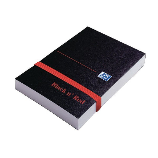 Black n' Red Plain Elasticated Casebound Notebook 192 Pages A7 100080540