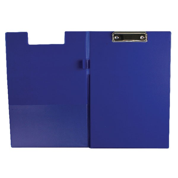 Q-Connect PVC Foldover Clipboard Foolscap Blue KF01301