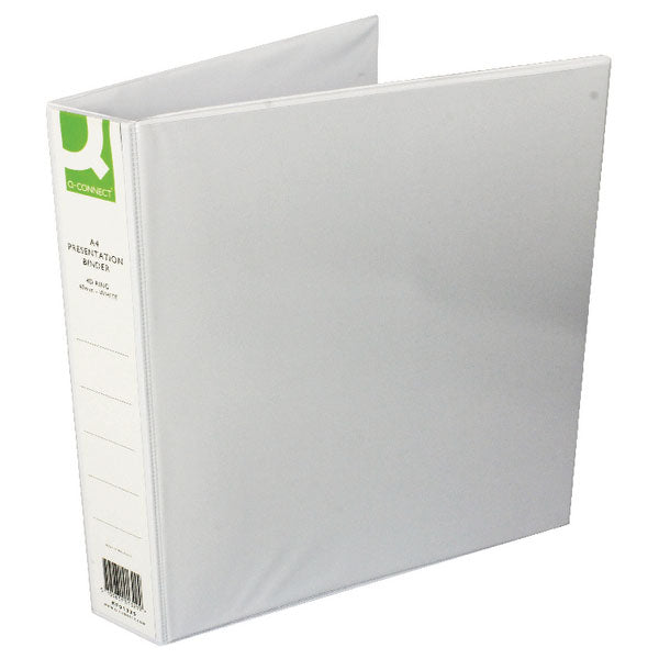 Q-Connect Presentation 40mm 4D Ring Binder A4 White KF01329Q